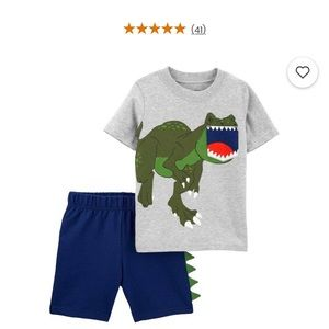 NWT Carter's Dinosaur Tee & Short Set 3m
